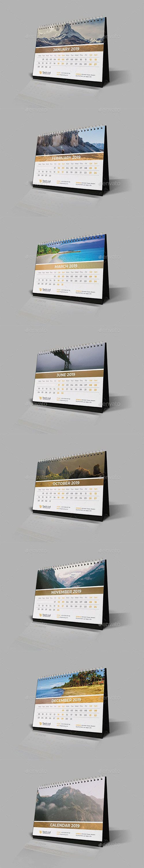 GraphicRiver - Desk Calendar 2019 22718666