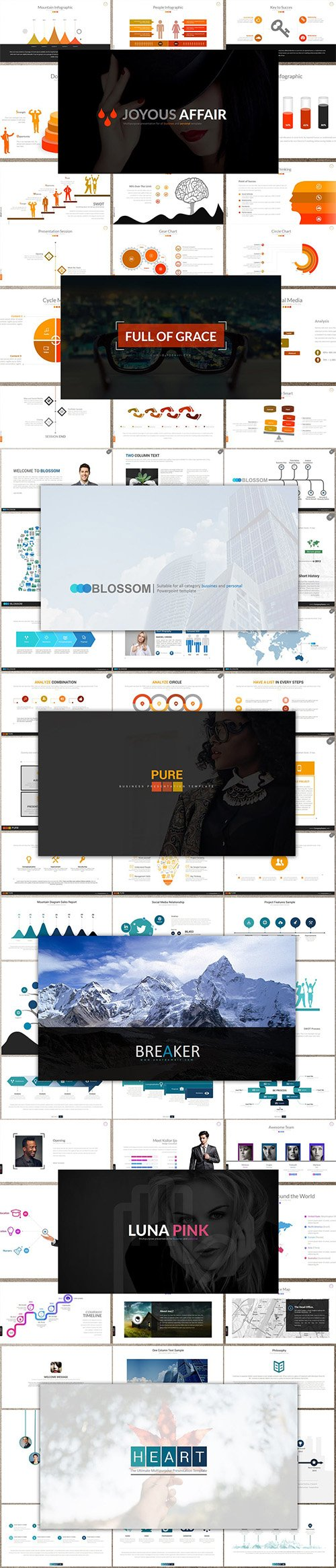 7 Keynote Templates Bundle