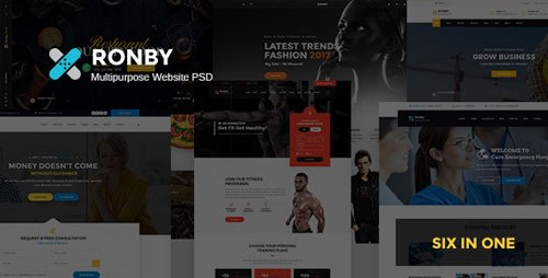 ThemeForest - Ronby v1.0 - Multi-Purpose PSD Template - 20355349