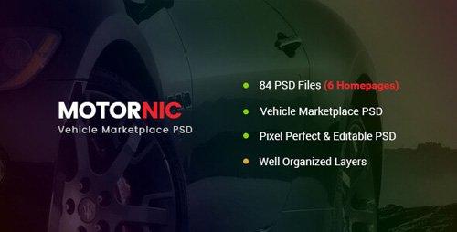 ThemeForest - MotorNic v1.0 - Vehicle Marketplace PSD Template - 20909086