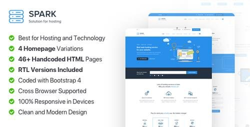 ThemeForest - Spark Host v1.0 - Responsive Hosting, Domain and Technology Template - 22855629