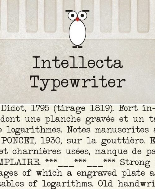 Intellecta Typewriter Font