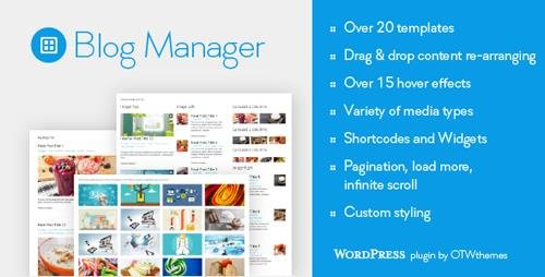 CodeCanyon - Blog Manager for WordPress v1.25 - 9982292