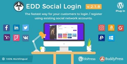 ThemeForest - Easy Digital Downloads - Social Login v2.1.8 - 20720969