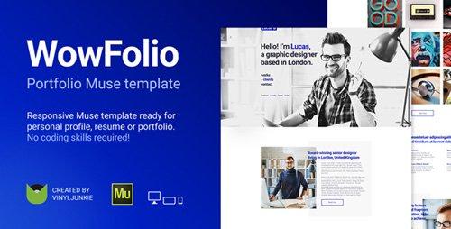 ThemeForest - WowFolio v1.0 - Responsive Portfolio / Resume Muse Template - 20552081