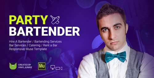 ThemeForest - Party Bartender v1.0 - Bartending Services / Catering / Rent A Bar Responsive  Muse Template - 20711818