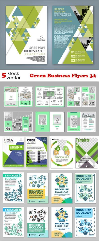 Vectors - Green Business Flyers 32