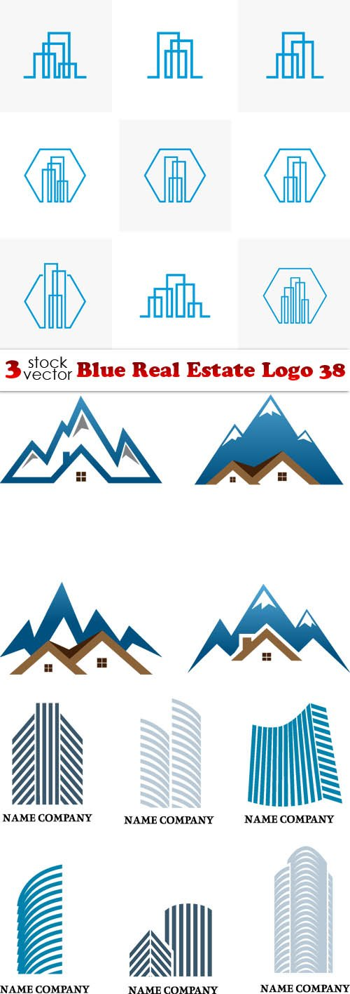 Vectors - Blue Real Estate Logo 38