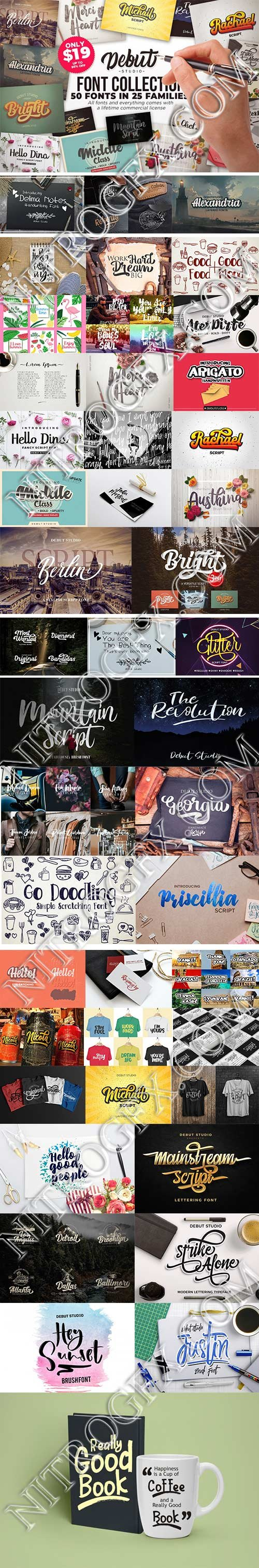 Debut Studio FONTS COLLECTION (25 in 1)