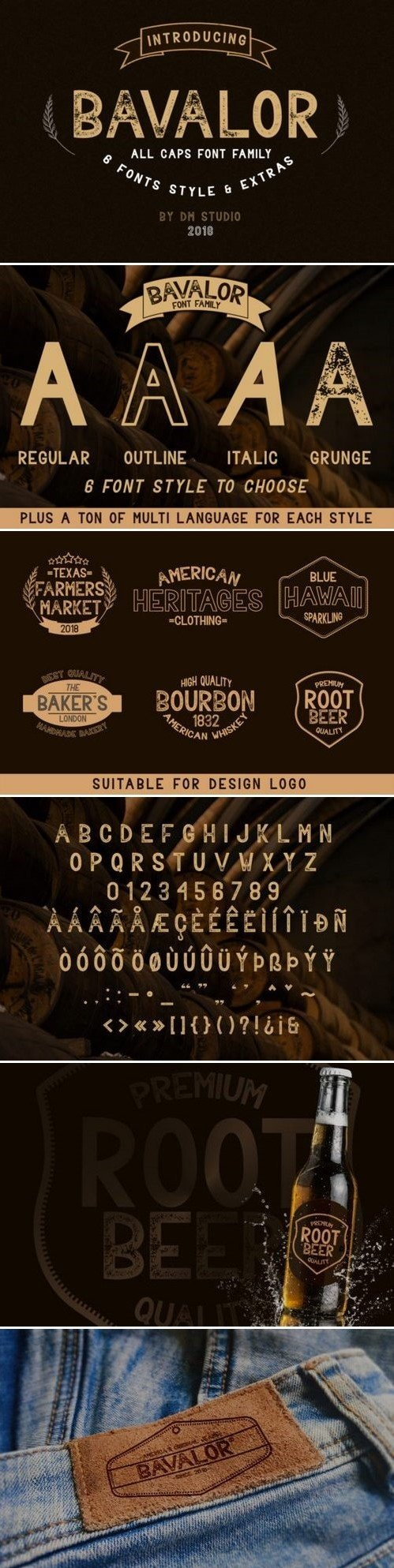 Fontbundles - Bavalor - All Caps Font Family with Extras 185575