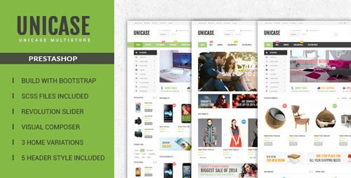 ThemeForest - Unicase v1.0 - Responsive Prestashop Theme - 17729258
