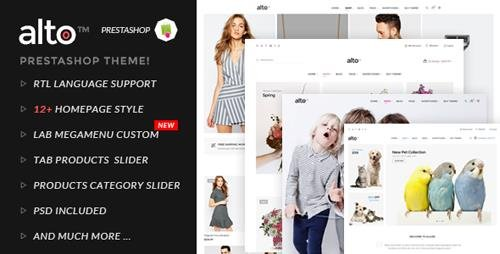 ThemeForest - Alto v1.0 - Responsive Prestashop Theme - 15693543