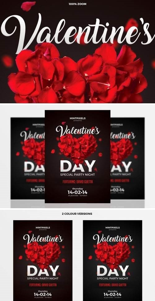 Valentine's Day Party A5 Flyer