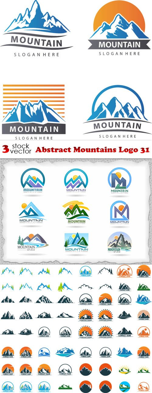 Vectors - Abstract Mountains Logo 31