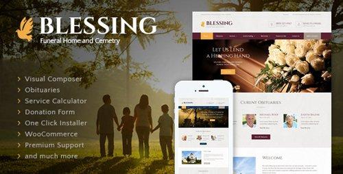 ThemeForest - Blessing v3.2 - Funeral Home WordPress Theme - 11675707