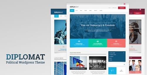 ThemeForest - Diplomat v1.2 - Political Campaign, Party, Blog Responsive WordPress Theme - 11007888