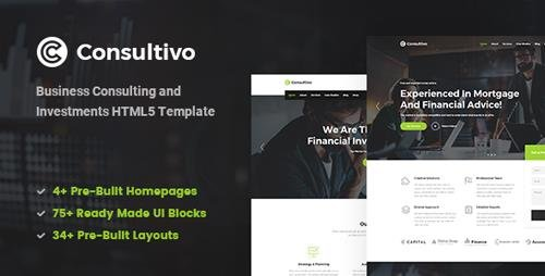 ThemeForest - Consultivo v1.0 - Business Consulting and Investments HTML5 Template - 22581212