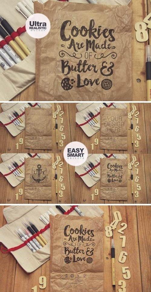 Crumpled Paper Bag Vertical