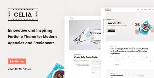ThemeForest - Celia v1.0 - Innovative and Inspiring Portfolio HTML5 Template for Modern Agencies and Freelancers - 20304763