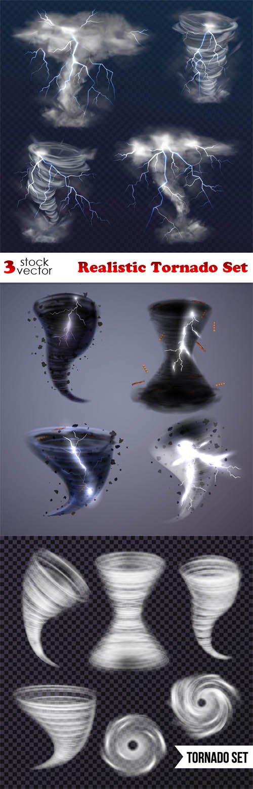 Vectors - Realistic Tornado Set