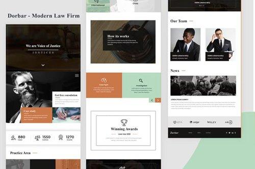 Dorbar - Modern Law Firm Email Newsletter
