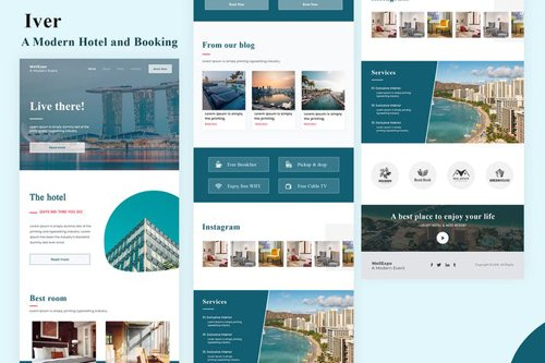 Iver - Modern Hotel and Booking Email Newsletter