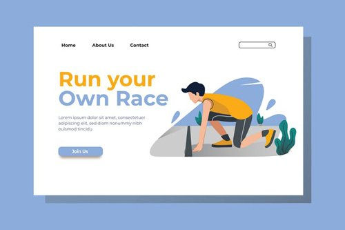 Run your Own Race Landing Page Illustration