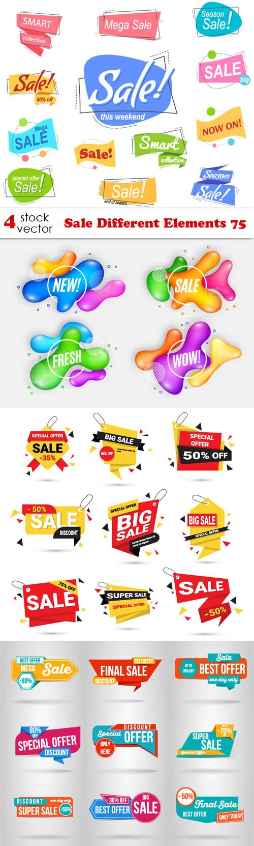 Vectors - Sale Different Elements 75