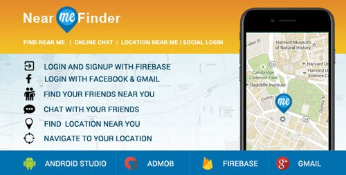 CodeCanyon - Near Me App - Location Finder + Social Login +Friend Finder + Chat + Location Navigation (Update: 4 January 18) - 20909116