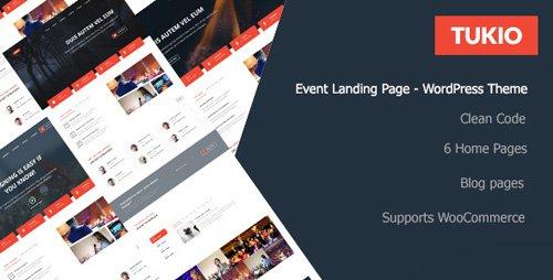 ThemeForest - Tukio v1.0.1 - Event Landing Page WordPress Theme - 21096709