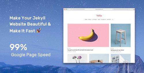 ThemeForest - Nubia v1.0.4 - Make Your Jekyll Website Beautiful & Make It Fast - 21096748