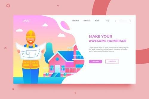 SRTP- Builder Illustration.02 - Homepage