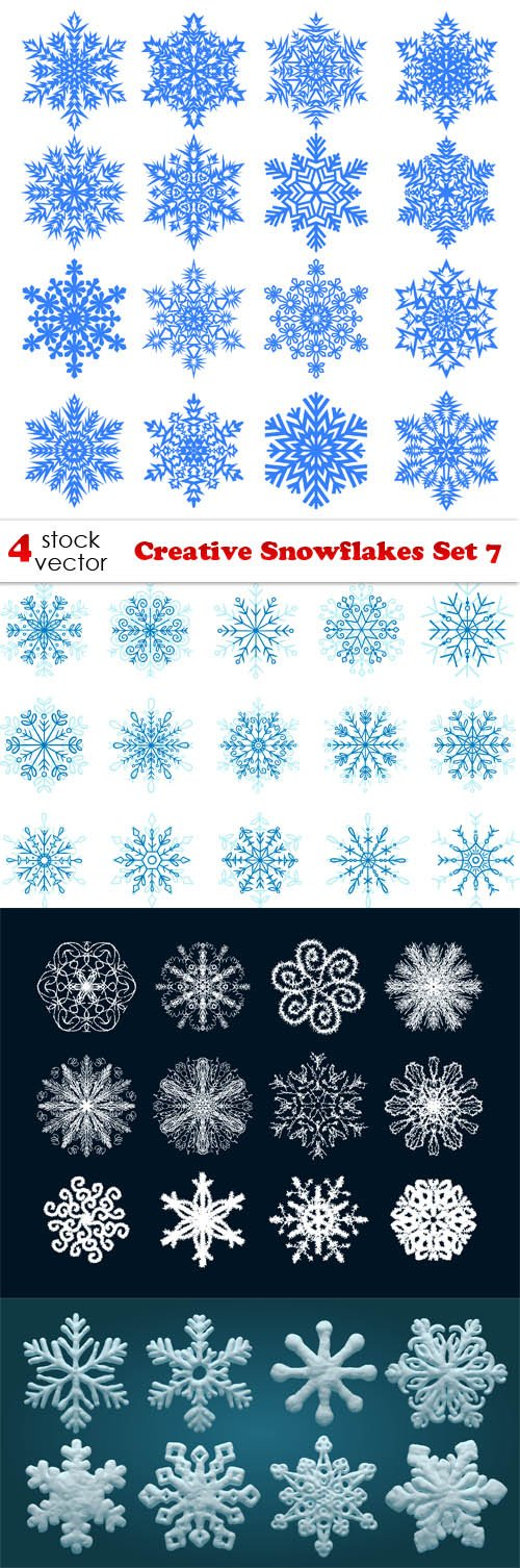 Vectors - Creative Snowflakes Set 7