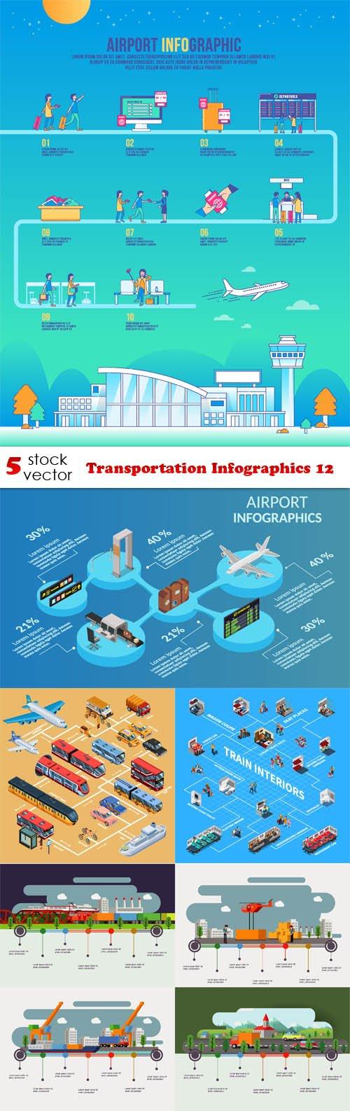 Vectors - Transportation Infographics 12
