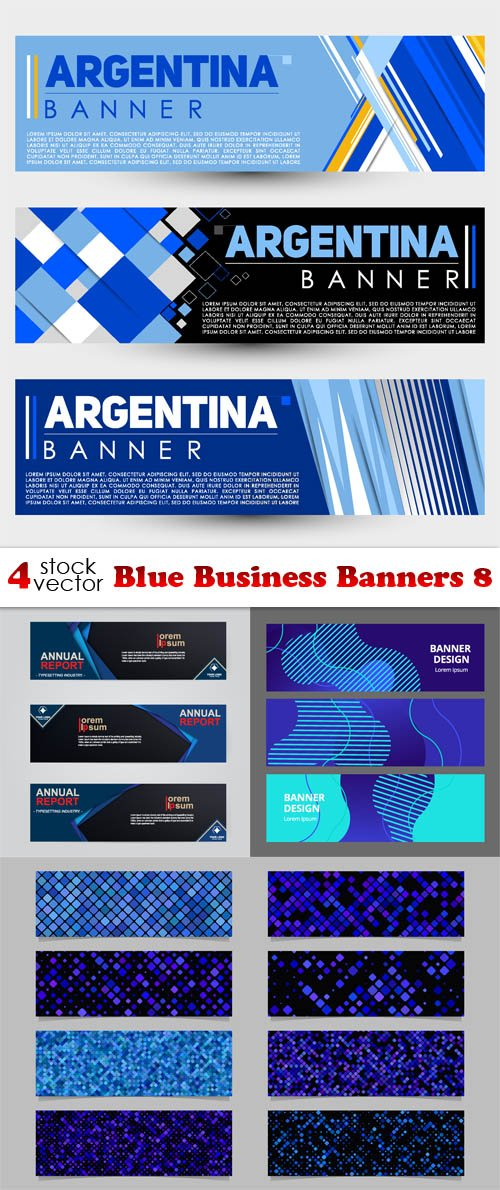 Vectors - Blue Business Banners 8