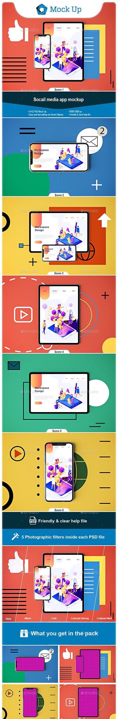 GR - Social Media App MockUp 23129197