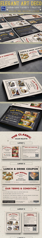 GR - Elegant Art Deco Coupon Card 13545818