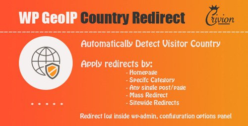 CodeCanyon - WP GeoIP Country Redirect v2.9 - 3589163