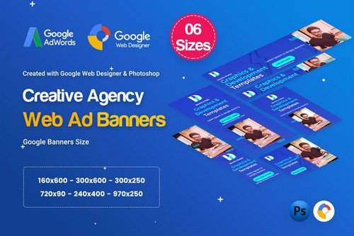 Creative, Startup Agency Banners HTML5 D39 - GSSP86