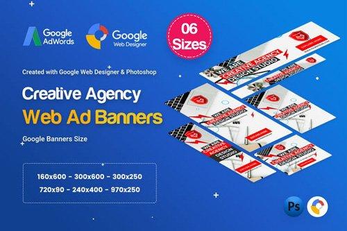 Creative, Startup Agency Banners HTML5 D37 - 3KL67V