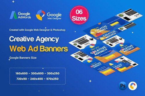 Creative, Startup Agency Banners HTML5 D38 - KR6G88