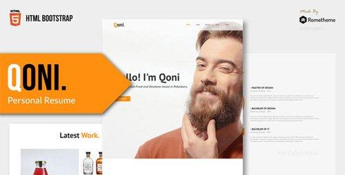ThemeForest - QONI v1.0 - Personal Resume HTML Template - 23052367