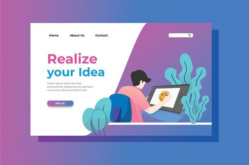 Creativity Landing Page Illustration