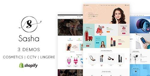 ThemeForest - Sasha v1.1 - Cosmetics, CCTV, lingerie Shopify Theme - 22433177