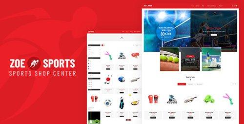 ThemeForest - Zoe v1.0 - Sport Store Shopify Theme - 21560286