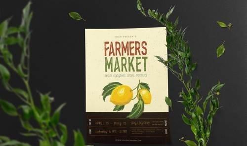Farmers Market Vector Template