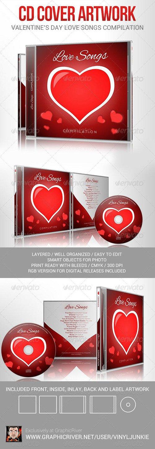 Love Songs for Valentine's Day CD Cover Artwork 6512774