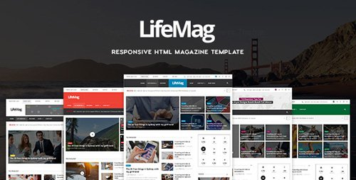 ThemeForest - LifeMag v1.0 - Responsive HTML Magazine Template - 18132469