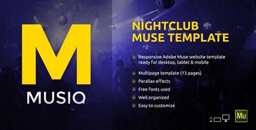 ThemeForest - Musiq v1.0 - Nightclub / Discotheque / DJ Bar Website Muse Template - 10470734
