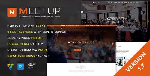 ThemeForest - Meetup v1.7 - Conference Event WordPress Theme - 13633735